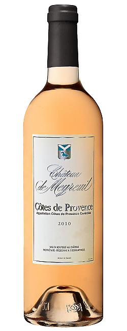 Bouteille de Côtes de Provence aoc rosé, Château de Meyreuil