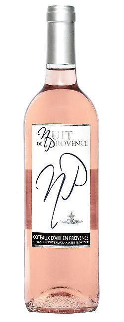 Bouteilles Nuit de Provence, Coteaux d'Aix en Provence Rosé Bio